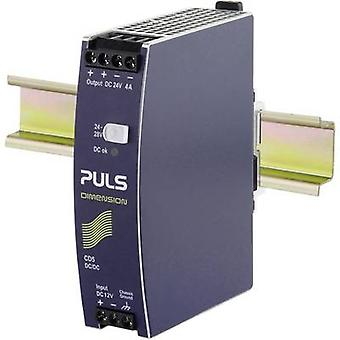 PULS CD5.243 rail mount DC/DC converter, output: 24 Vdc 4 A 96 W