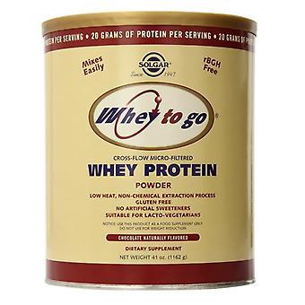 Solgar مصل الحليب للذهاب مسحوق البروتين (الشوكولاتة) 1162g (3673)