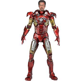 Avengers Iron Man striden skadad 1:4 skala Action figur