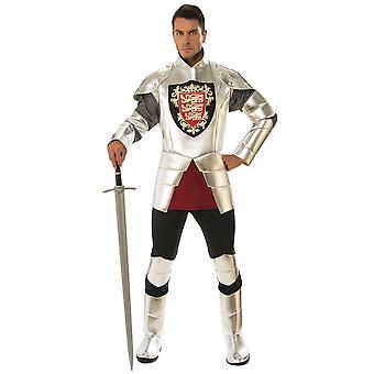 Серебряный рыцарь доблестный средневековый Ренессанс Дракон Истребитель Мужской костюм
