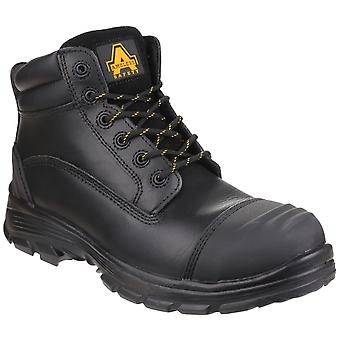 Amblers Safety Mens AS201 QUANTOK S3 PU/RUBBER SAFETY BOOT Zwart