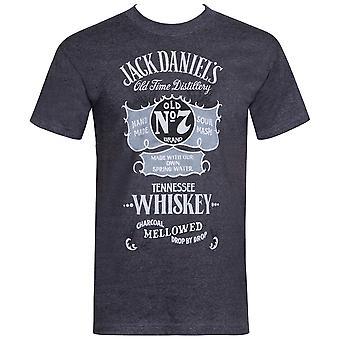 Jack Daniels Vintage Poster Grey Tee Shirt