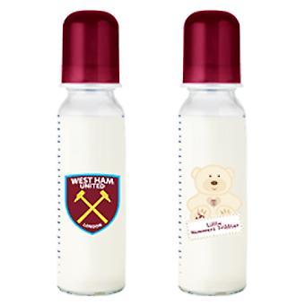 West Ham United FC Official Baby Feeding Bottle (2 Pack)
