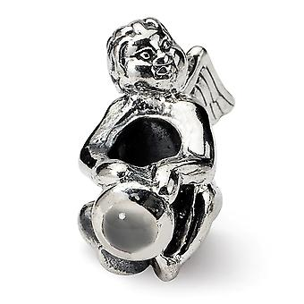 925 Sterling Silver Polished finish Reflections June CZ Cubic Zirconia Simulated Diamond Bead Charm Pendant Necklace Jew