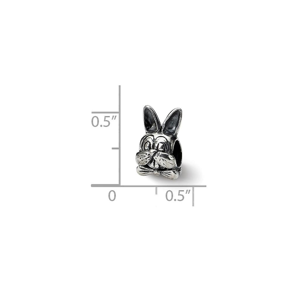 925 Sterling Silver Polished finish Reflections Easter Bunny Bead Charm Pendant Necklace Jewelry Gifts for Women