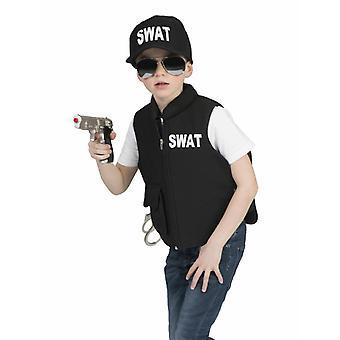 SWAT lasten liivi musta lasten puku erikoisyksikkö Law Keeper Carnival Carnival