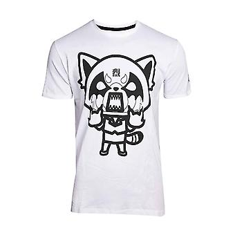Aggretsuko T Shirt I Wanna Eat Logo Retsuko new Official Anime Mens White