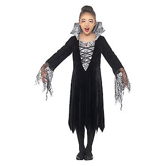 Filles Spider Vampire Halloween Fancy Dress Costume
