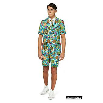 Graffiti 90s Summer Suit with Shorts Suitmaster Slimline Economy 3-piece