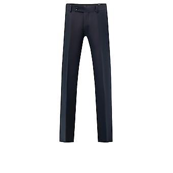 Dobell Mens Midnight Blue Two-Tone Suit Trousers Regular Fit