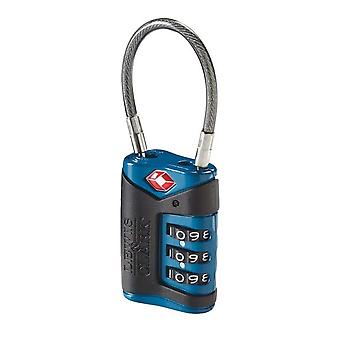 Lewis N. Clark Travel Sentry TSA Cable Lock 3-Dial, Blue #TSA40BLU
