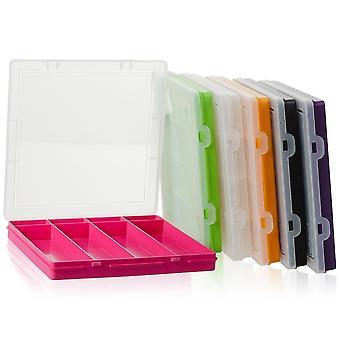 Wham Armazenamento 23,5 cm (9,02) Quadrado de plástico 8 Compartimento dividido extra raso organizador caixa