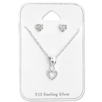 Herz - 925 Sterling Silber Sets - W28991X