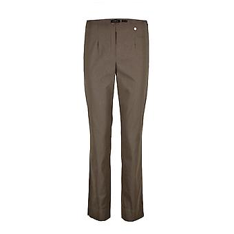 Robell Marie Trousers in Dark Taupe