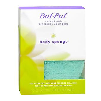 Buf-puf double-sided body sponge, 1 ea
