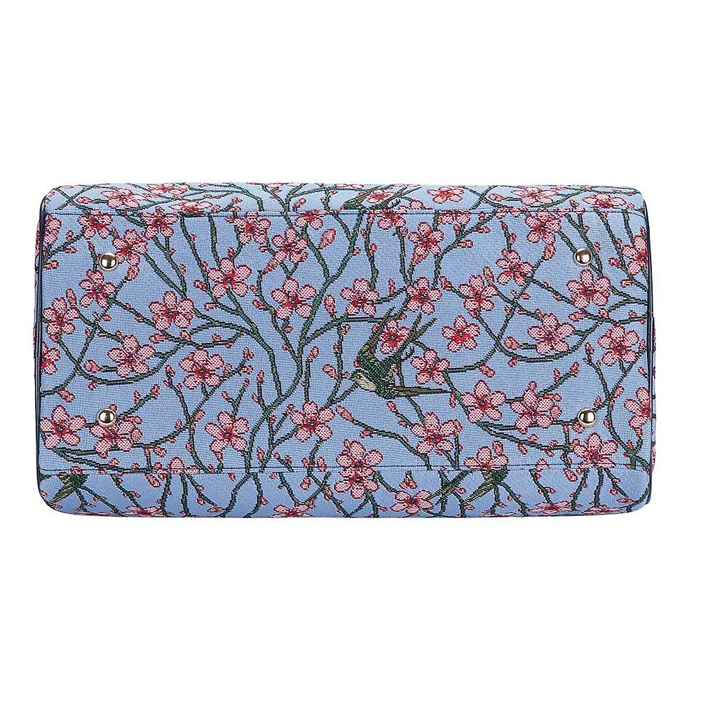 Almond blossom and swallow travel bag by signare tapestry / trav-blos