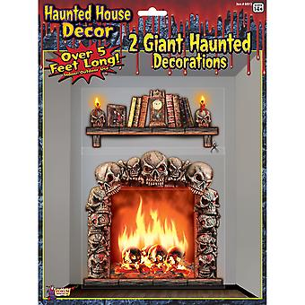 Bristol Novelty Haunted House Giant Halloween Wall Decorations (Pack Of 2)