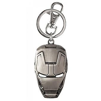 Máscara de Ironman Keychain do Pewter