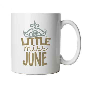 Little Miss June Mug | Happy Birthday Celebration Party Getting Older | Age Related Year Birthday Novelty Gift Present | Birthday Cup Gift