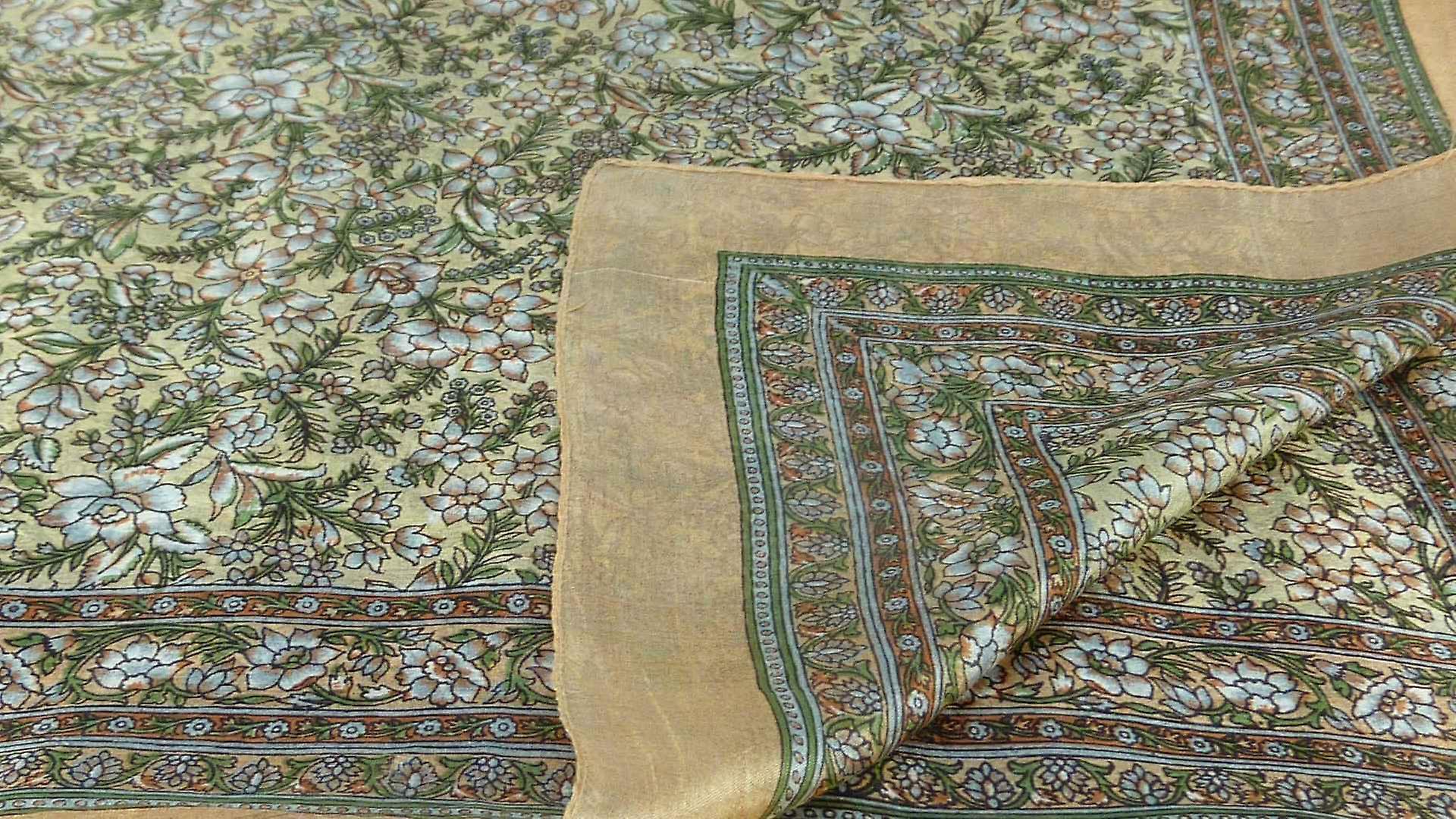 Mulberry Silk Traditional Square Scarf Dula Blush by Pashmina & Silk
