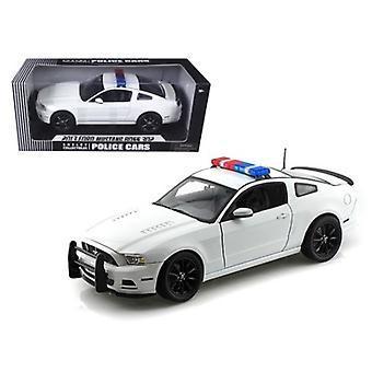 2013 Ford Mustang Boss 302 weiß unmarkiert Polizei Auto 1/18 Diecast Auto Modell von Shelby Sammlerstücke