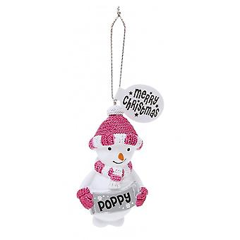 History & Heraldry Festive Friends Hanging Tree Decoration - Poppy