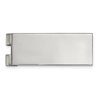 19.84mm acero inoxidable pulido clip clip regalos de joyería para los hombres