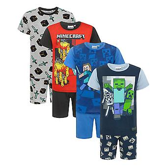 Minecraft Boy's Shortie Pyjamas 6 - 12 Years Various Styles