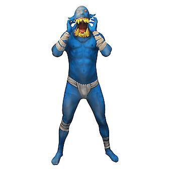 Orc Jaw Dropper Blauwe Morphsuit