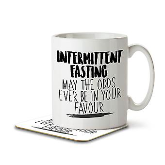 Intermittent Fasting May the Odds Be in Your Favour - Mug and Coaster