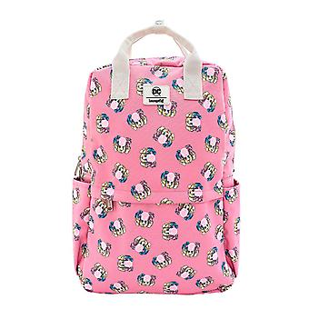 Harley Quinn Backpack Bubble Gum Logo All over print new Official Loungefly Pink