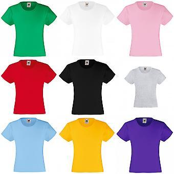 Vrucht van de Loom meisjes Childrens Valueweight Short Sleeve T-Shirt