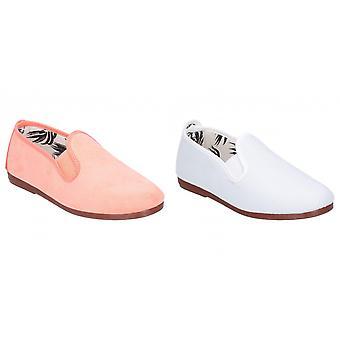 Flossy spleet Junior Girls slip op lederen schoen