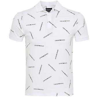 Armani Repeat Logo Polo Shirt