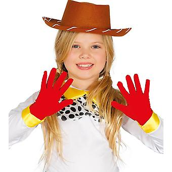 Childrens Red Gloves Fancy Dress Accessory Fancy Dress Accessory