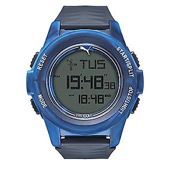 Cougar Time Vertical wrist watch, digital, plastic band, blue (Blue Camo)