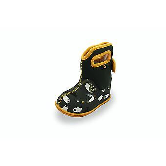 Baby bogs green and yellow farm print boots