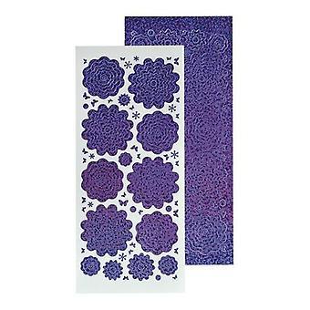 LeCrea 10 ورقة من زهرة قشر Offs – الماس الأرجواني