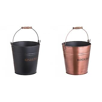 Hill Interiors Fireplace Kindling Bucket