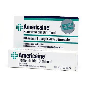 Americaine hemorrhoidal ointment, maximum strength, 1 oz