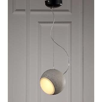 """7"""" Rund sølv loft vedhæng lampe"""