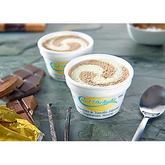 Cooldelight Chocolate & Vanilla Frozen Mousse Insulated Cup