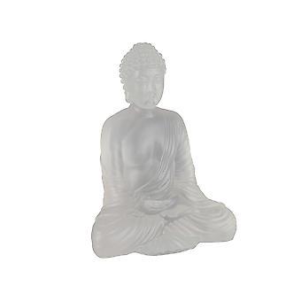 Semi Opaque Acrylic Meditating Buddha Statue 8 Inches High