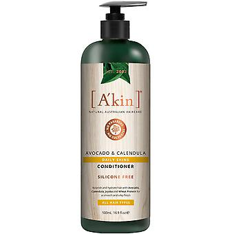 A-apos;kin Daily Shine Avocat et Calendula Conditioner Natural Rich Hair Care 500ml