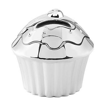 Orton West Cupcake Money Box - Silver