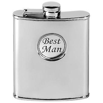 Orton västra 6oz rostfritt stål bästa Man Hip kolv - Silver