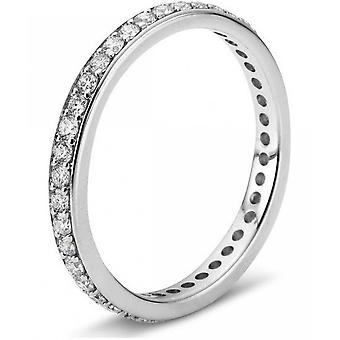 Diamond Ring Ring - 18K 750 White Gold - 0.35 ct.