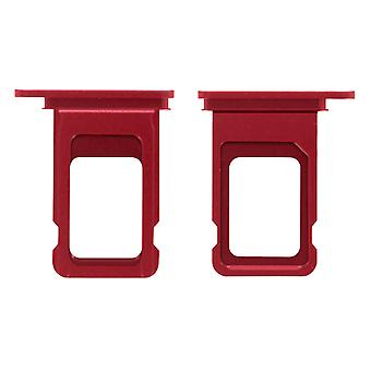 Nano-SIM card tray replacement part for Apple iPhone 11 - Red