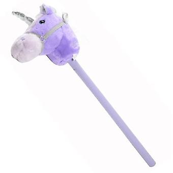 Fantasy Hobby Horse with Sound - Pink & Purple Unicorn