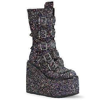 Demonia Femmes & s Boots SWING-230G Blk Multi Glitter